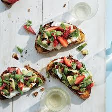 Strawberry-Avocado Toasts
