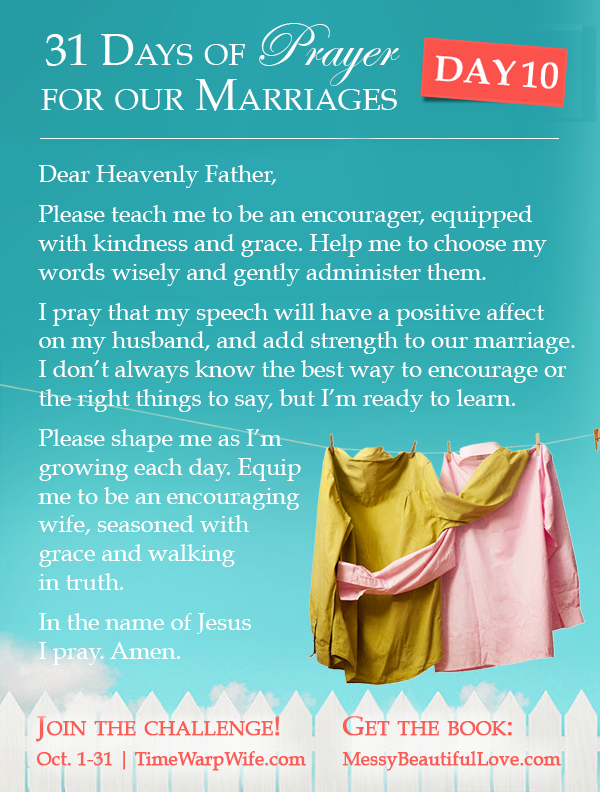 Day 10 - 31 Days of Prayer for Our Marriages
