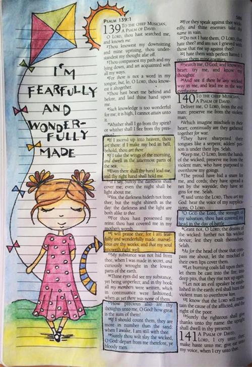 Bible Journaling - Psalm 139