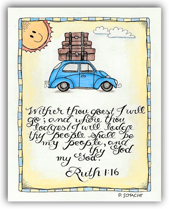 Bible Journaling - Ruth 1:16