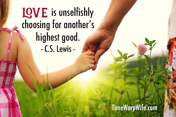 Love isn't selfish