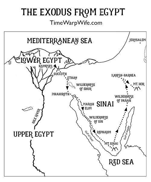 exodus_from_egypt_map