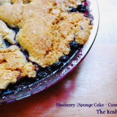 Blueberry {Sponge cake + Crumble} = Spongle