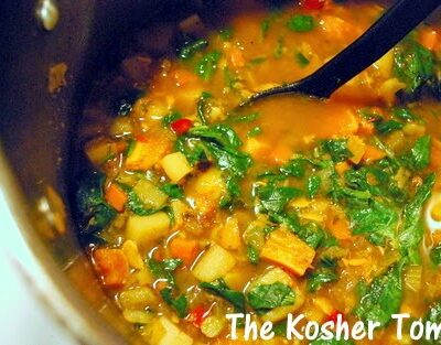 Simple Vegetarian Soup W/ Earthy Spices