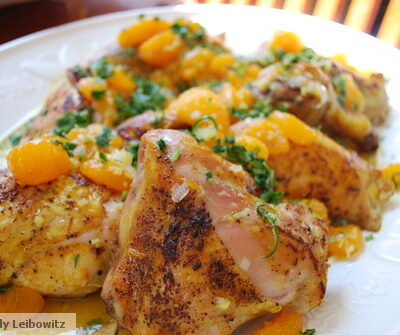Roasted Chicken with Tangy Citrus Dressing