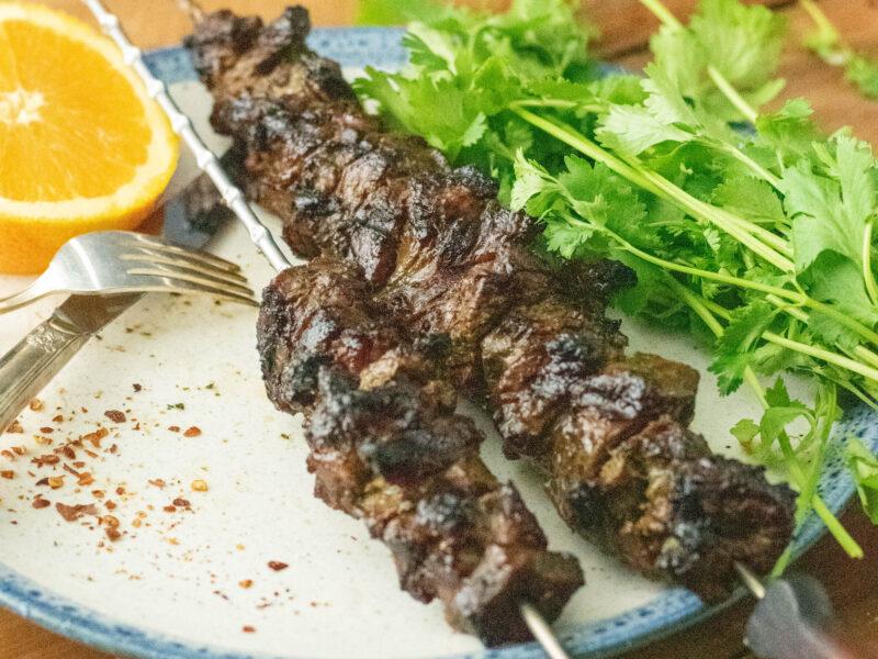 Grilled Steak / Orange-Herb Marinade
