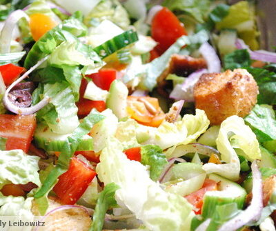 Panzanella Salad with Onion Ciabatta & Feta