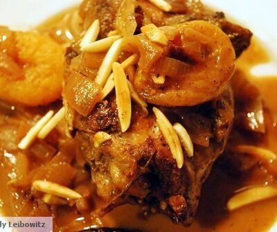Chicken Tagine With Apricots, Prunes & Almonds