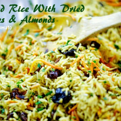 Jeweled Rice with Dried Cherries & Almonds