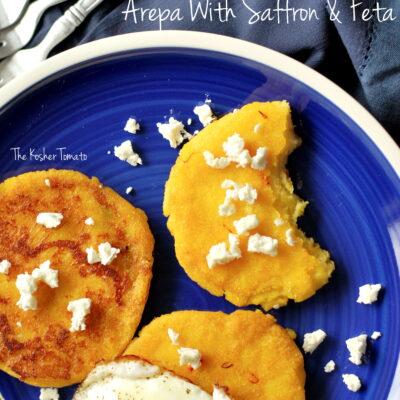 Arepa with Saffon & Feta