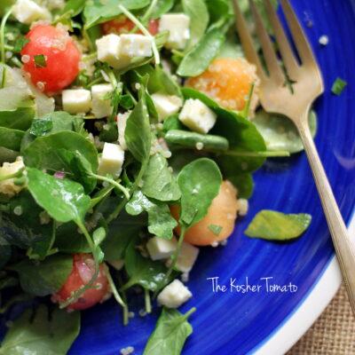 Melon, Watercress + Feta Salad