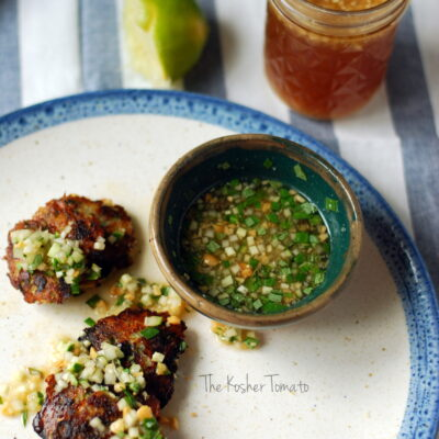 Cod Cakes with Nuoc Cham