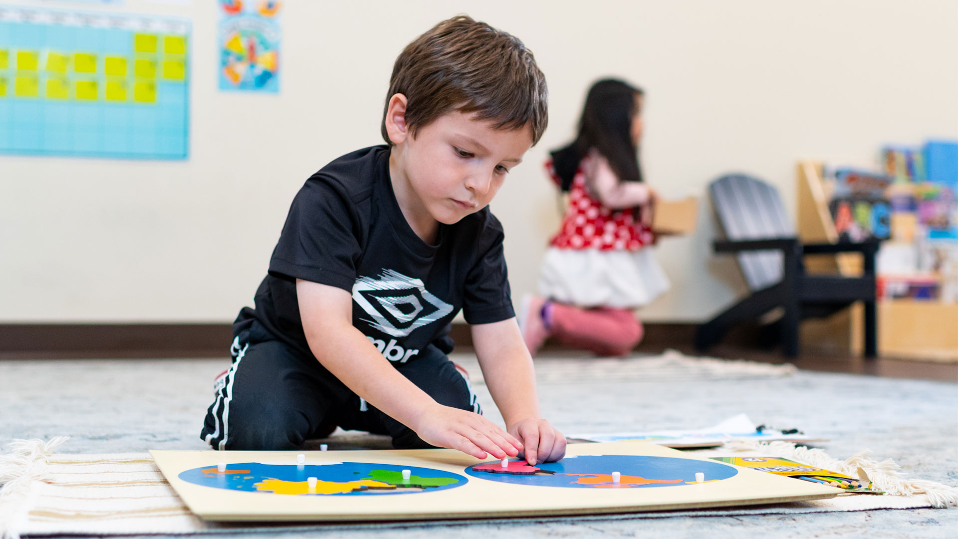 Photo of a boy doing shapes