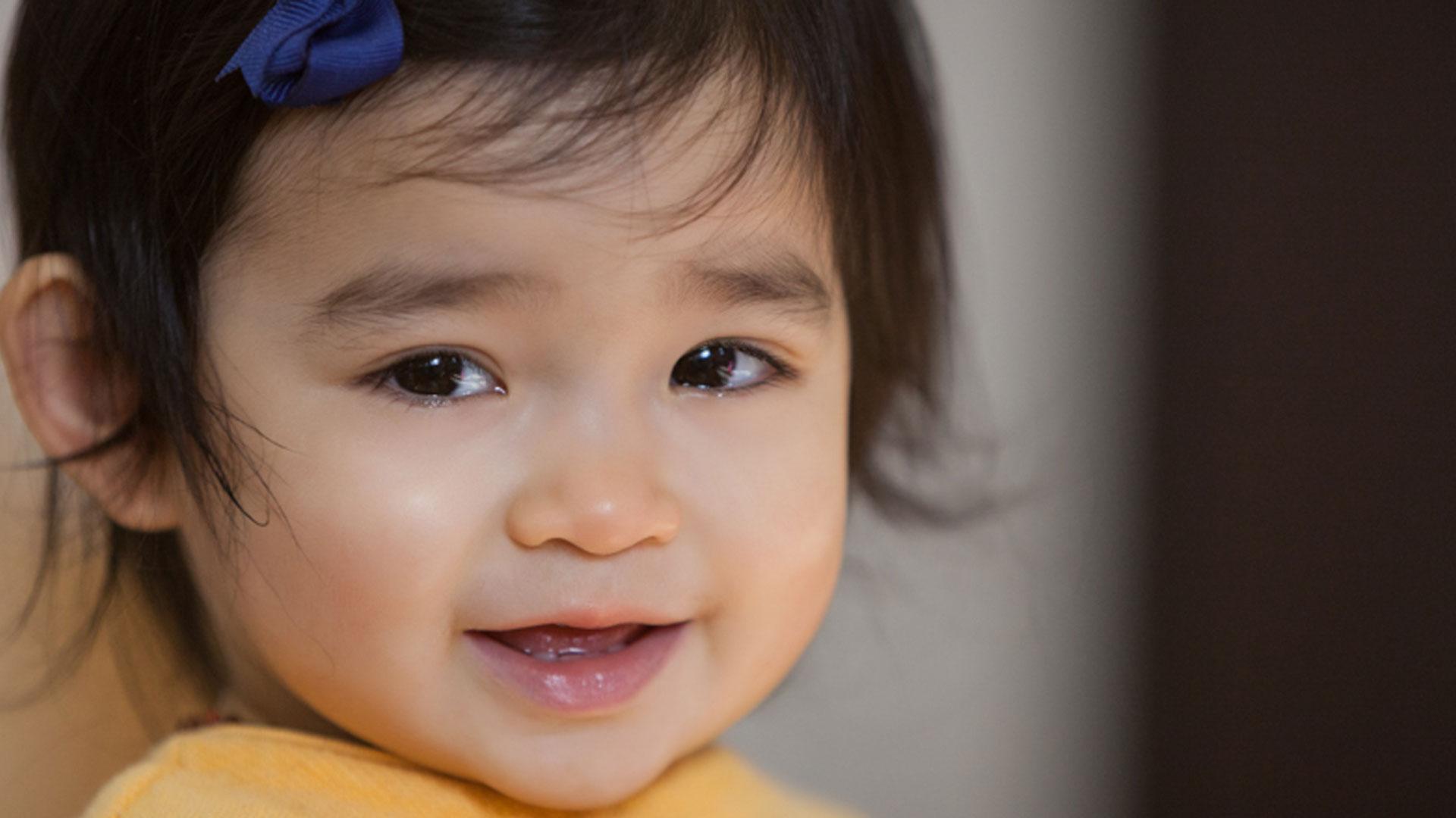 A cute toddler