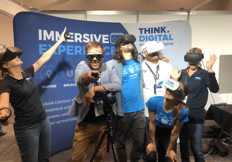 Think Digital Team wearing Virtual Reality and Augmented Reality wearables