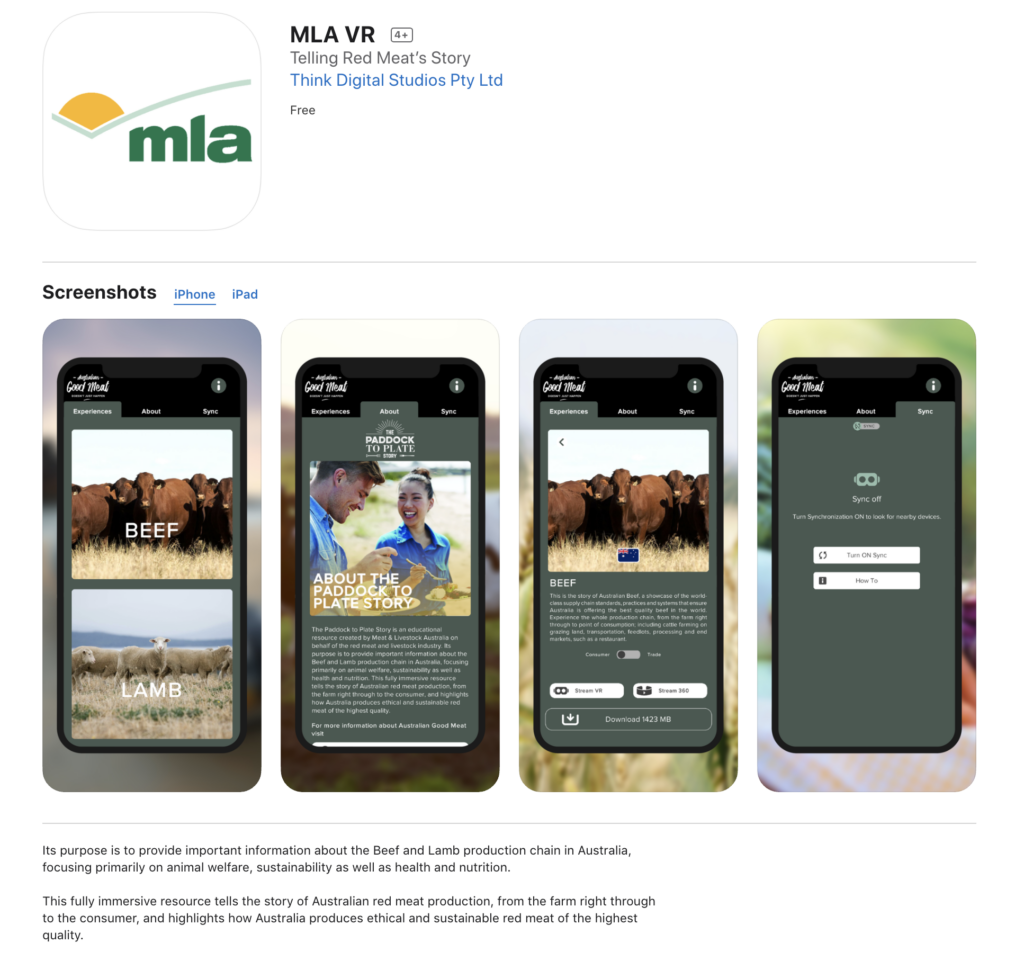 Project - MLA - 360 Video, Custom VR App & Event Activation