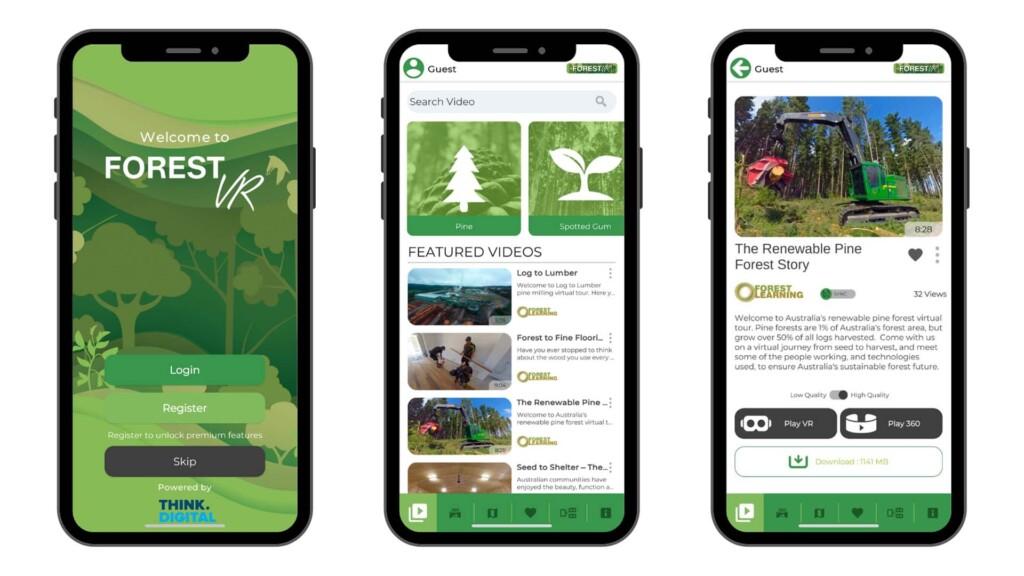Think Digital Custom VR & AR Apps ForestVR Screenshots