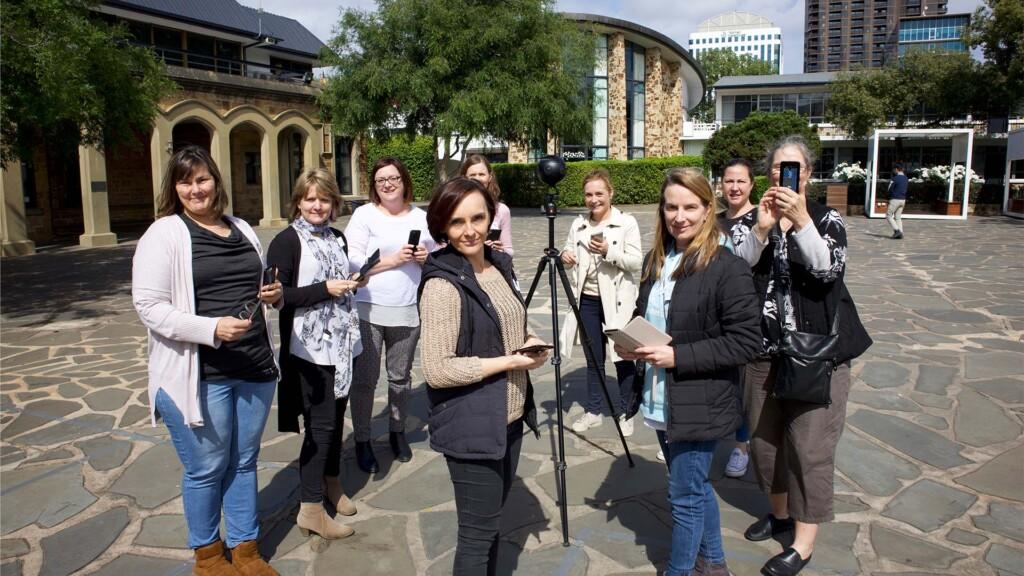 South Australian German Teachers Association virtual tour virtual excursion workshop with Insta360 Pro 2