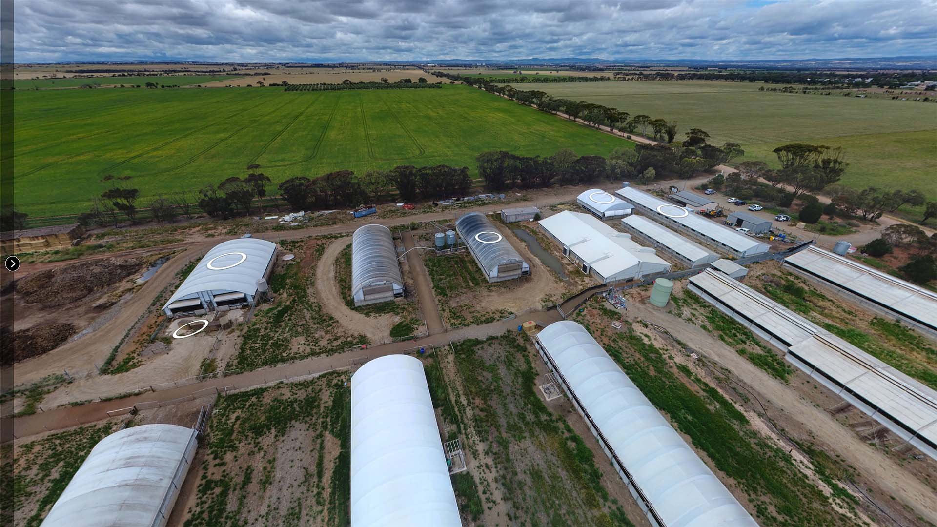 University of Adelaide Piggery Virtual Tour drone photo