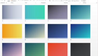 PowerPoint Templates: Gradient Backgrounds
