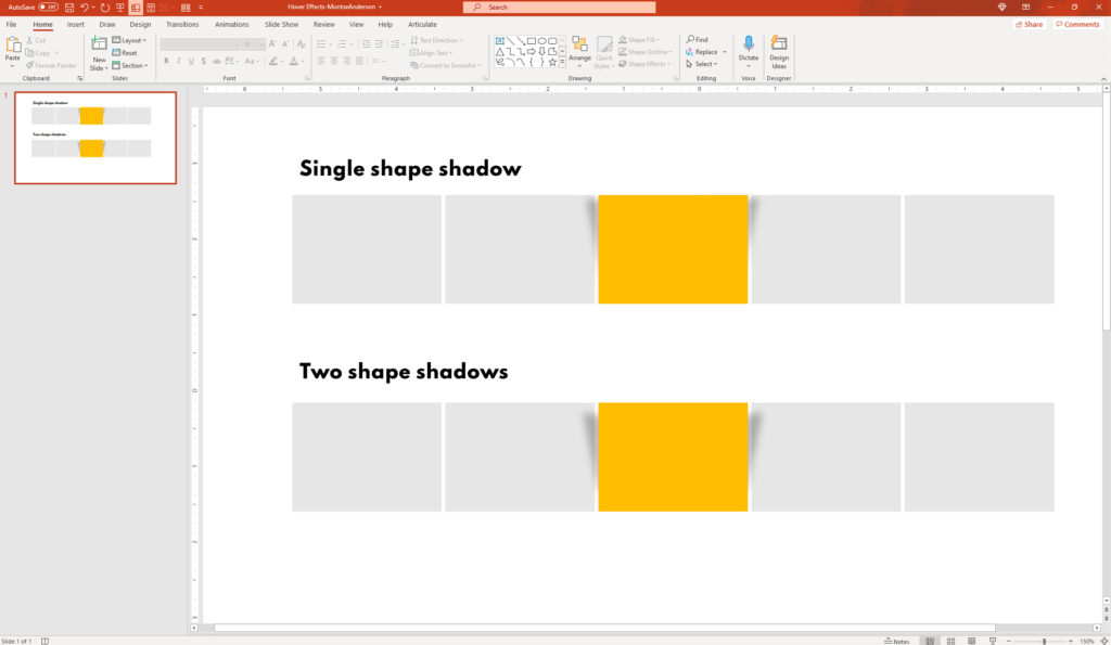 PowerPoint Drop Shadow Effects