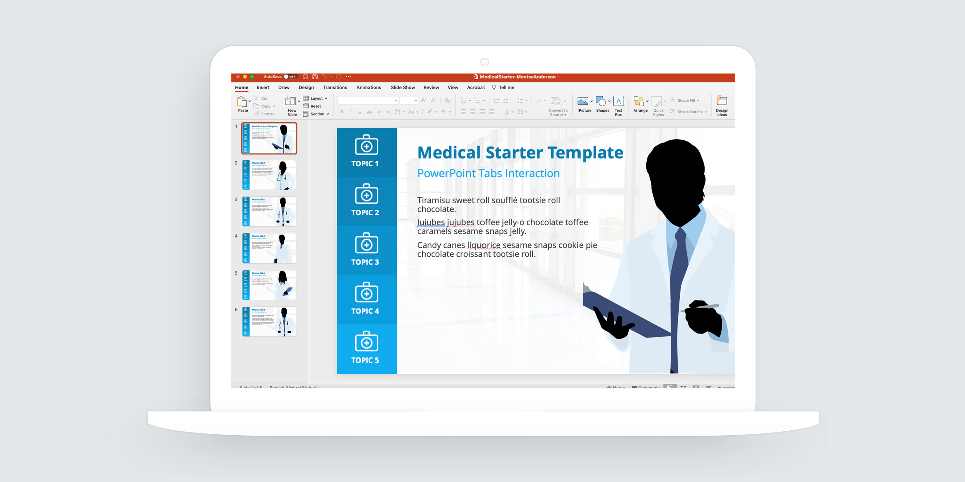 PowerPoint: Medical Course Starter Template