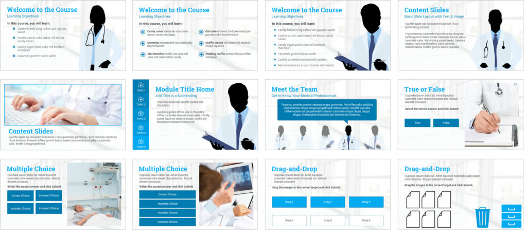 Storyline 360: Medical-Theme E-Learning Template
