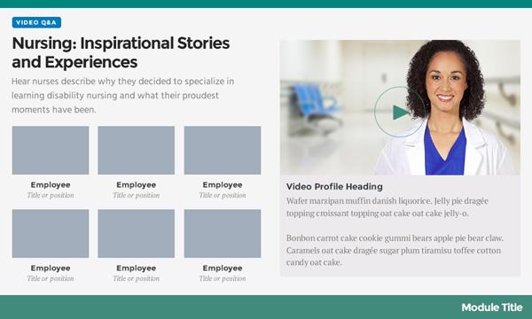 Medical E-Learning Design Template