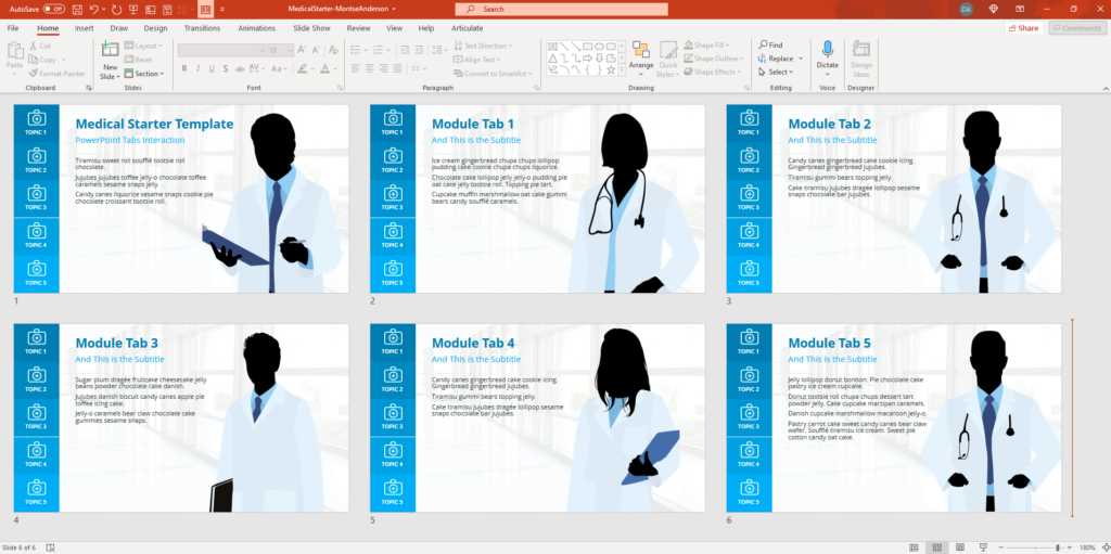 PowerPoint E-Learning Template