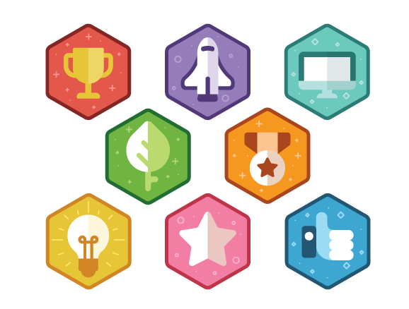 Colorful Gamification Badges
