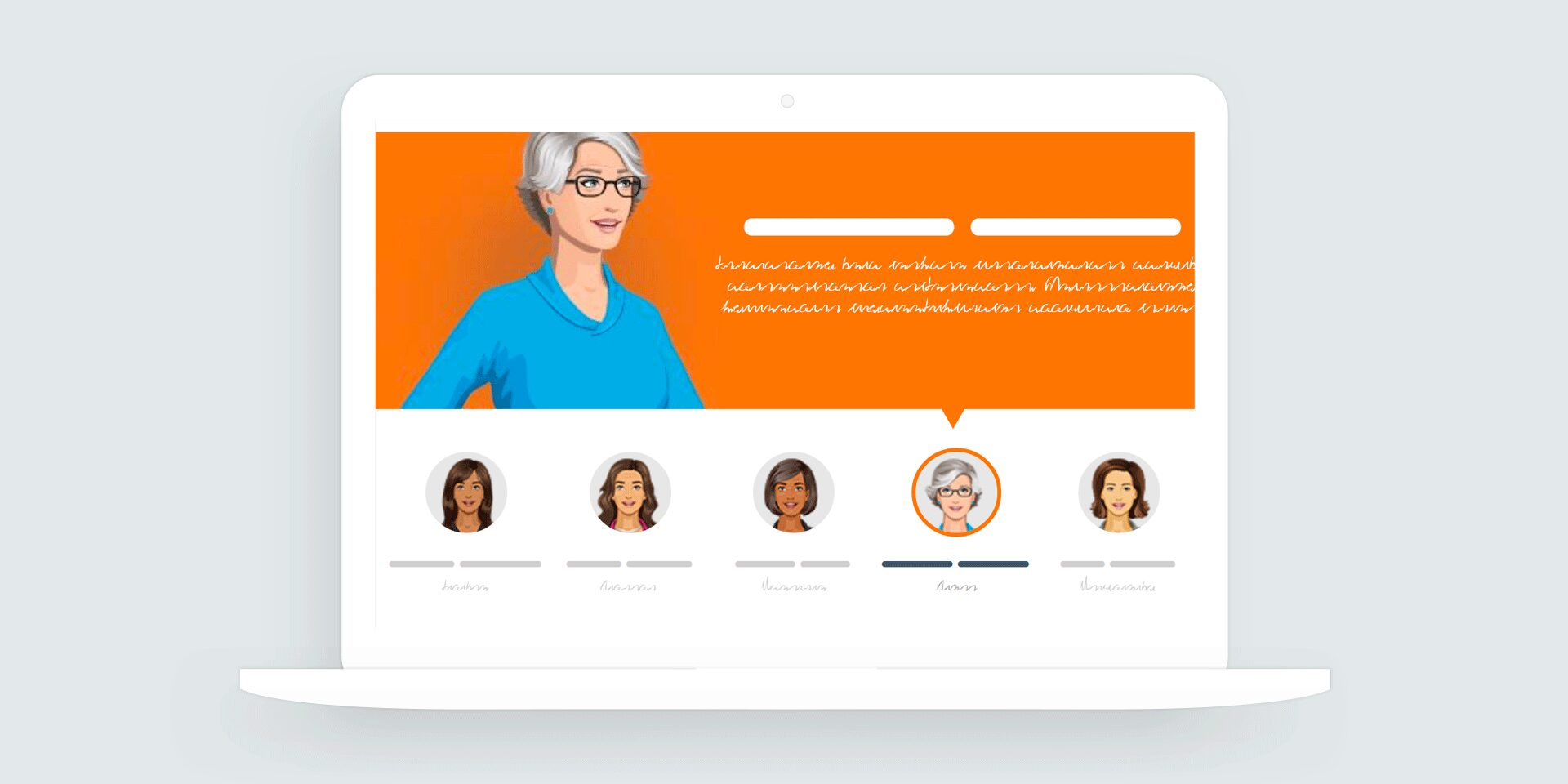 Storyline 360: People Tabs Interaction Template