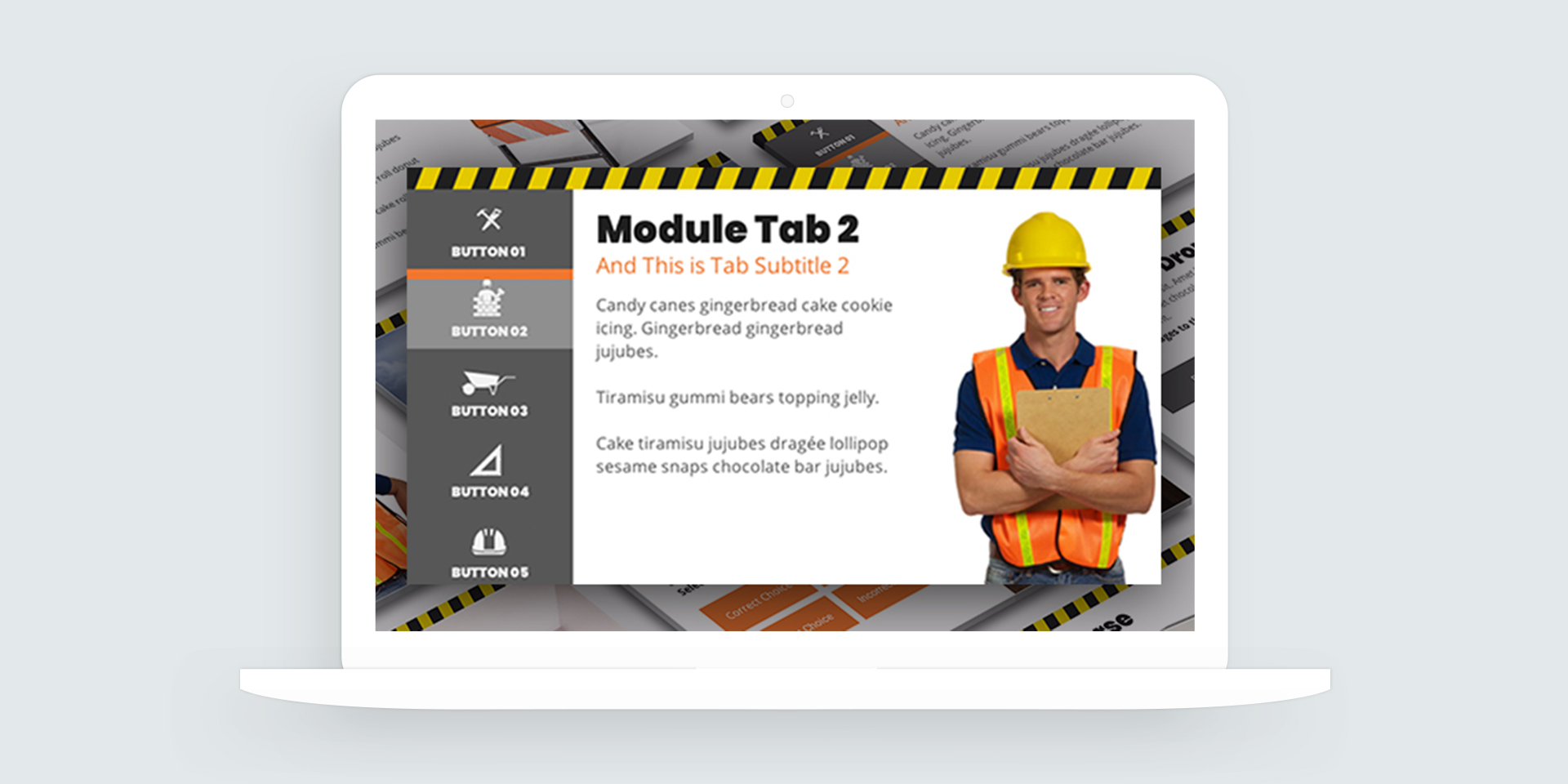 Storyline 360: Construction-Themed E-Learning Template