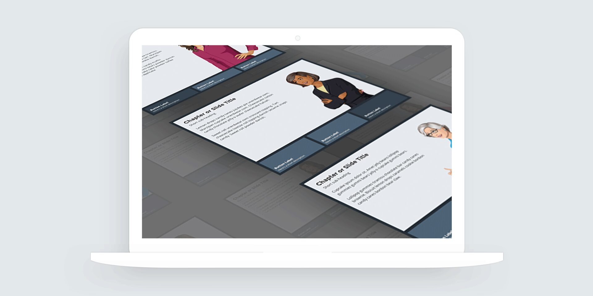 Storyline 360: 3-Button Tabs Interaction