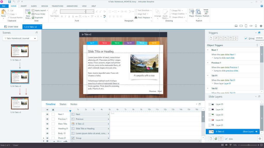 Storyline 360 Interface