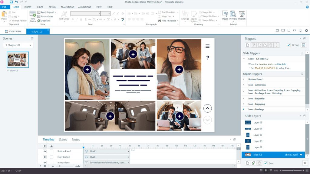 Storyline 360 photo collage example