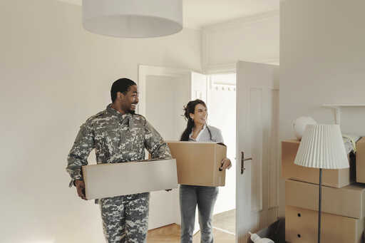 Soldier moving house