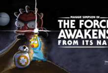 El crossover de Los Simpson y Star Wars ya está en Disney