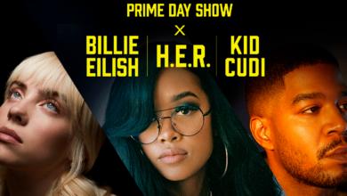 Amazon Prime Day Concert: Billie Eilish, H.E.R. y Kid Cudi confirmados para la edición 2021