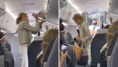 Bajan de avión a mujer que se negaba a usar cubrebocas ✈😷