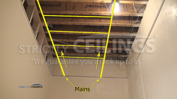How to layout drop ceiling grids