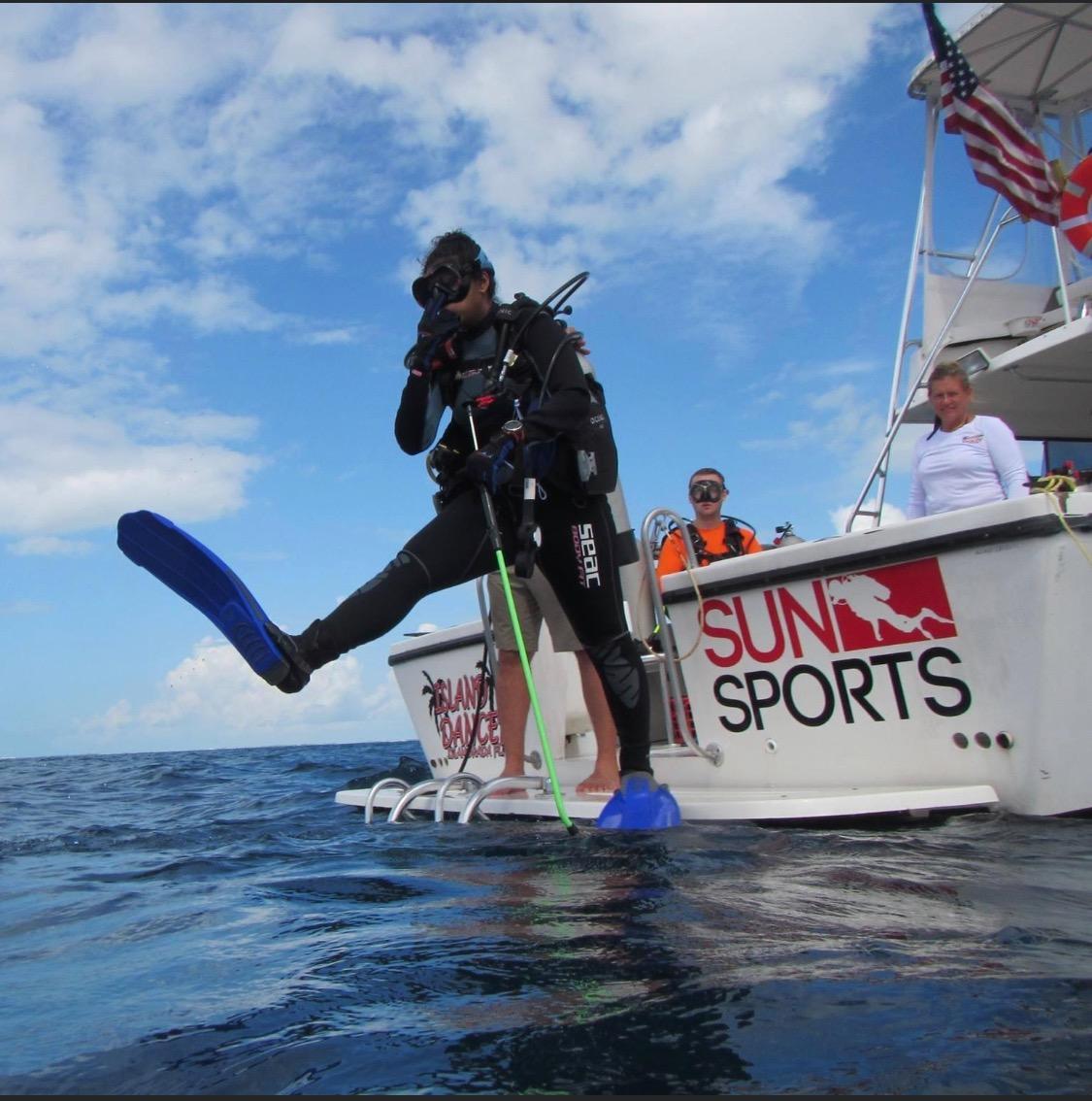 private charter, ialamorada, sun sports, scuba diving