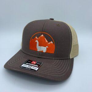 brown khaki llama hat
