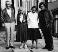 Albert Solnit, Anna Freud, Dorothy Burlingham, and Joseph Goldstein working together in Ireland.