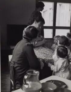 Anna Freud with children in the Jackson Nursery