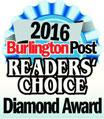 Burlington Post Readers Choice Diamond Award 2016