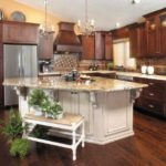 White Granite Countertop with 2 toned cabinets