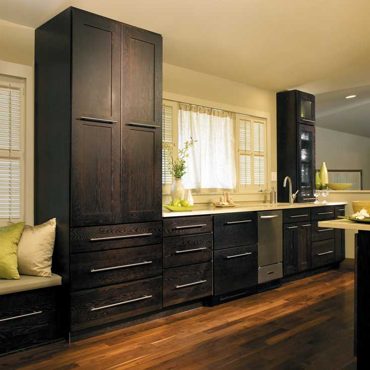 Black Painted Cabinetry in this kitchen remodel