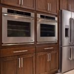 Double Ovens with wood cabinets