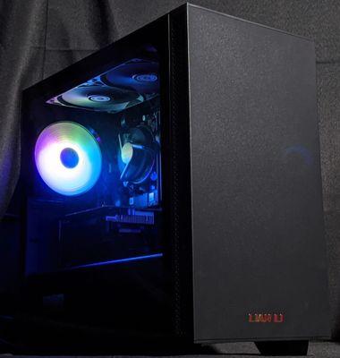 A black Lian Li Lan Cool 205m computer system unit