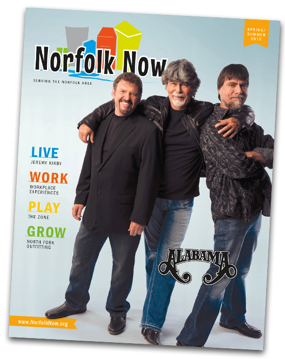 Norfolk Now Magazine spring summer 2018 issue norfolk nebraska live work play grow